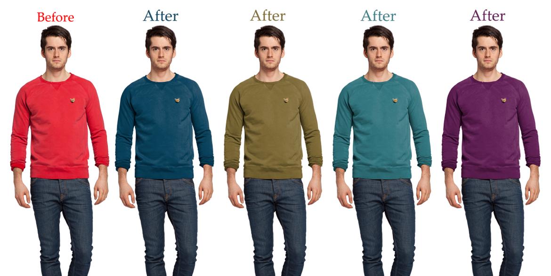 T-shirt Color Correction Service