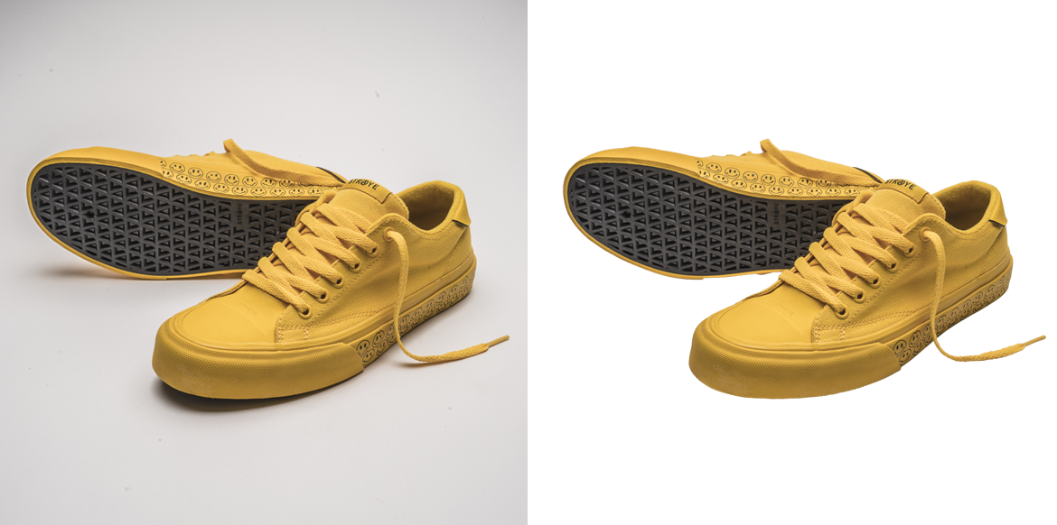 Ecommerce Shoes Background Removal
