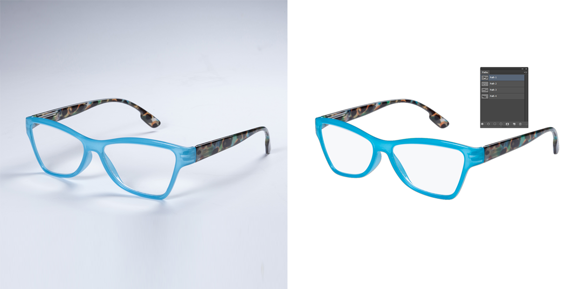 Sunglass Multiple Clipping Path