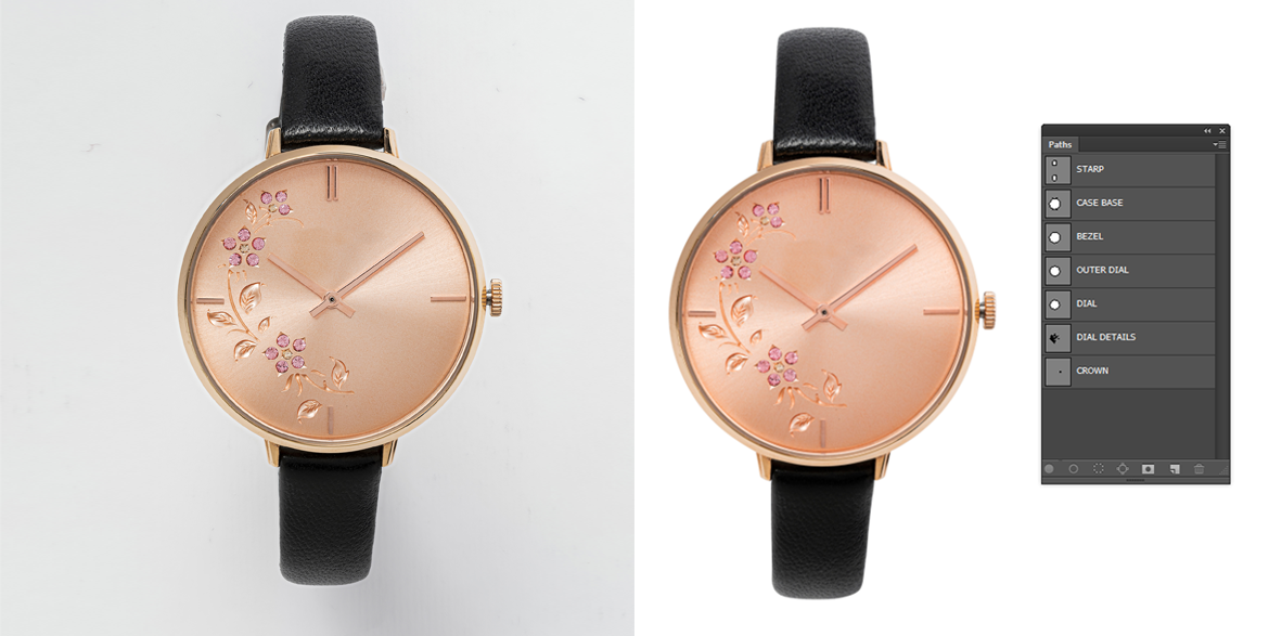 Ladies Watches Clipping Path Service